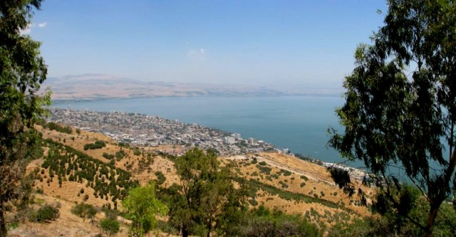 View of Tiberias from Switzerland Forest